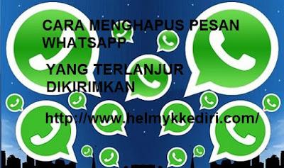 Menghapus pesan whatsapp yang terkirim