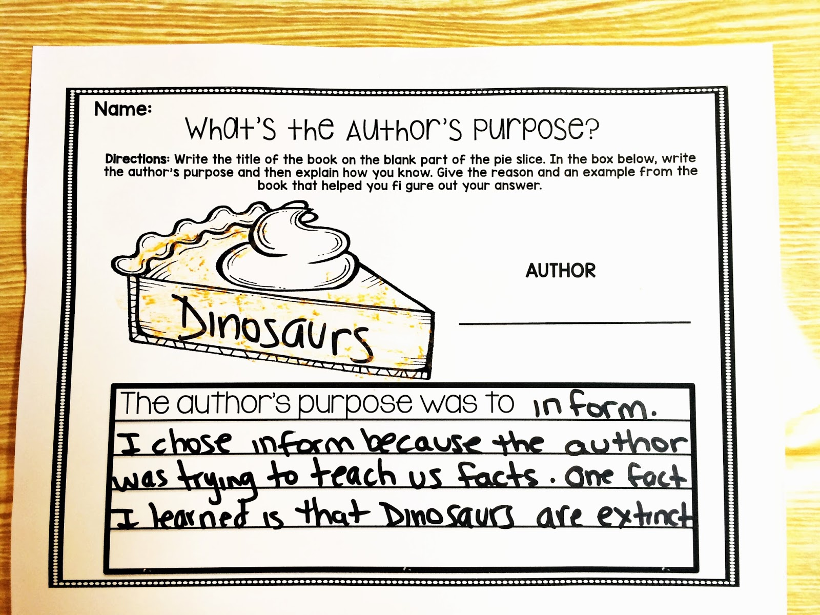 worksheet Authors Purpose Worksheet authors purpose part two teach reach 2nd grade happenings with this interactive pie craft flip flap book and assessment worksheet