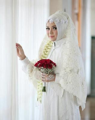 model hijab pengantin wajah bulat terbaru