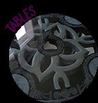 table en carton recyclé, table de salon, table de salle à manger, table de chevet, table de jardin...... Meuble artisanal entièrement fait main par  © CARTONS DUDULLE.