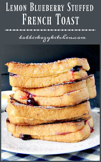 Lemon Blueberry Stuffed French Toast is the perfect brunch dish that your whole family will love. From www.bobbiskozykitchen.com