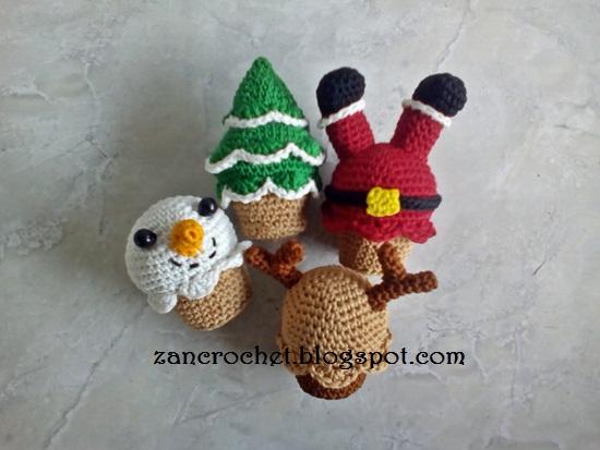 Amigurumi Christmas : Christmas cupcakes zan crochet
