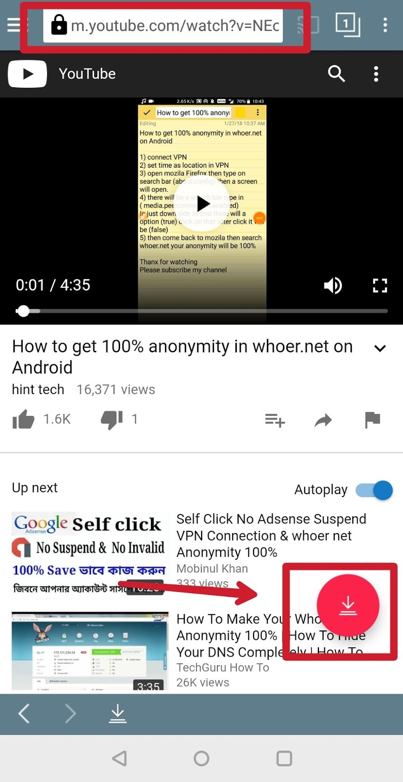 download youtube videos android apk