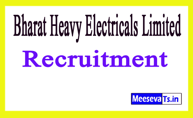 Bharat Heavy Electricals Limited BHEL Recruitment Notification