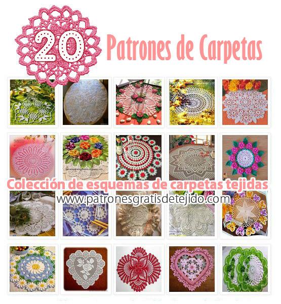 20 patrones de carpetas tejidas al crochet