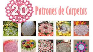 20 patrones de carpetas o tapetes tejidos a crochet