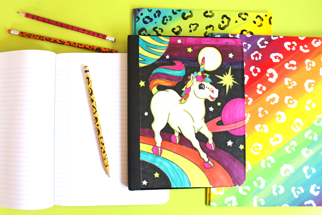Diy Unicorn Book Cover : Punk projects diy lisa frank notebooks