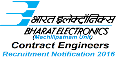 BEL Machilipatnam Unit Recruitment 2016