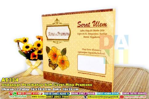 Undangan Pernikahan Soft Cover Rina Pramono