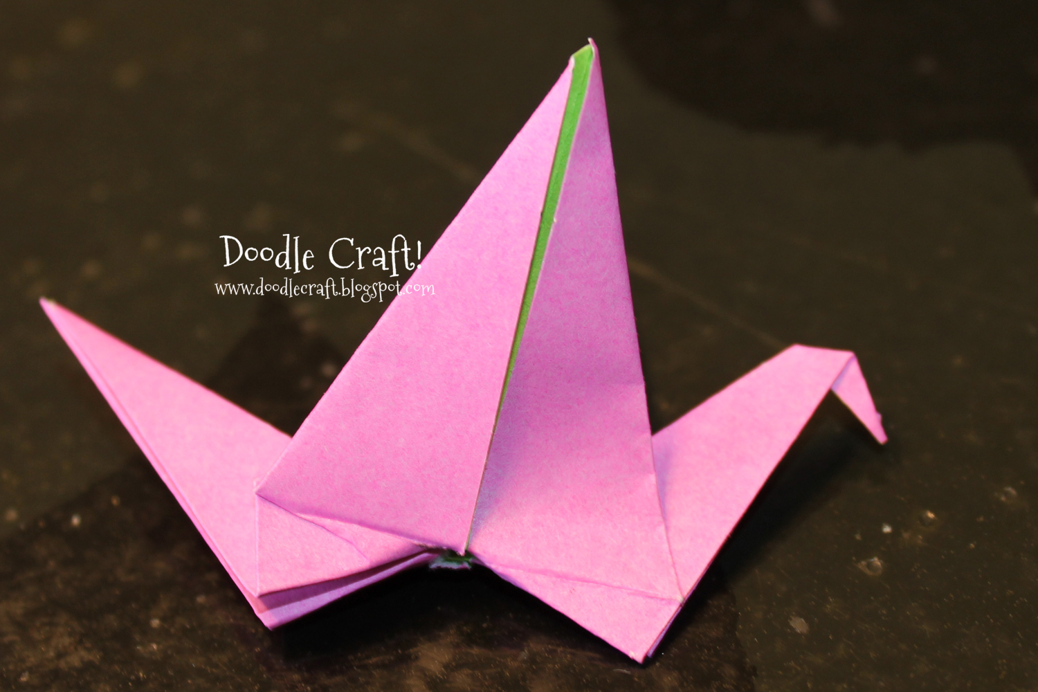 Doodlecraft: Origami Flapping Paper Crane Mobile! - photo#36