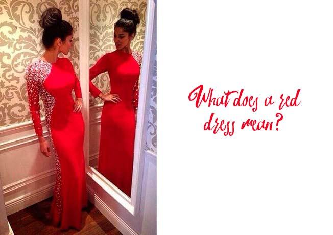 Significado de mujer vestida de rojo