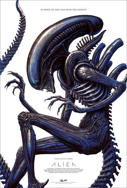 Alien Movie Poster Screen Print by N.C. Winters x Mondo