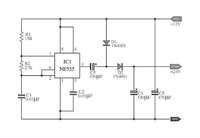 doubler voltage with ne555 schematic