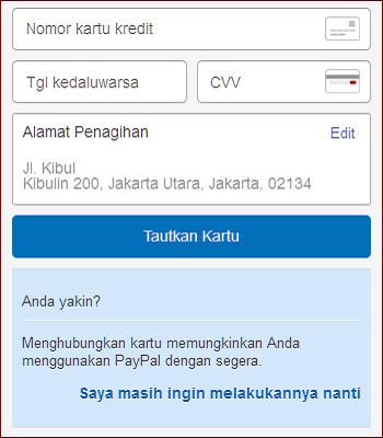 cara mendaftar akun paypal tanpa kartu kredit
