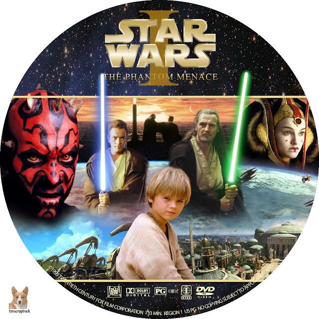 Star Wars: Episode I - The Phantom Menace DVD Label