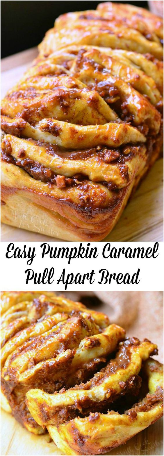 Easy Pumpkin Caramel Pull Apart Bread and The Pumpkin Lovers Cookbook