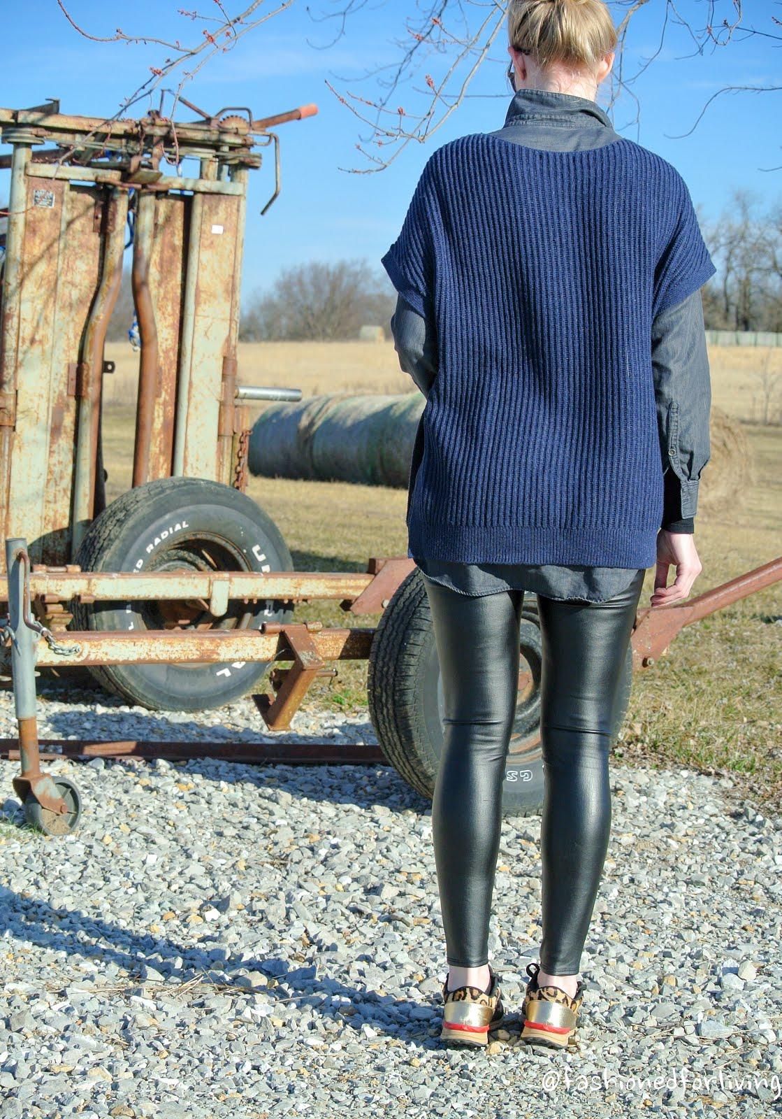 Walmart grey leggings - 3 3