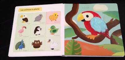 Mon grand imagier à toucher - Editions MILAN JEUNESSE les animaux à plume
