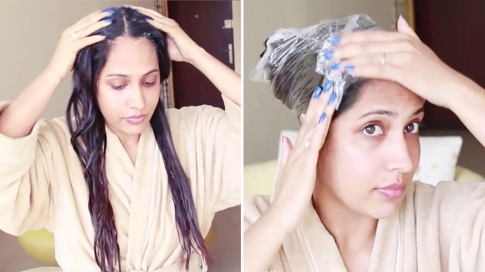 أقوى وأسرع وصفة هندية لتطويل الشعر بسرعة البرق بعد استعمالين فقط باذن الله تجربتي الشخصية