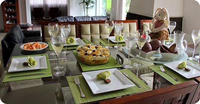 Montando a Mesa : Almoço de Páscoa - Decoração
