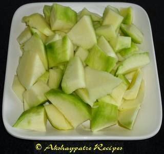 peel and chop the mango