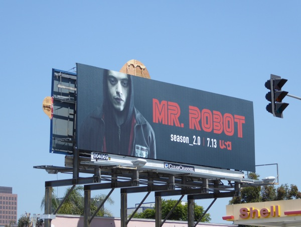 Rami Malek Mr Robot season 2 billboard