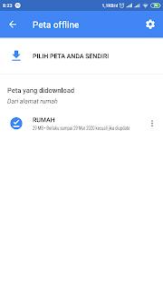 hasil peta google maps offline