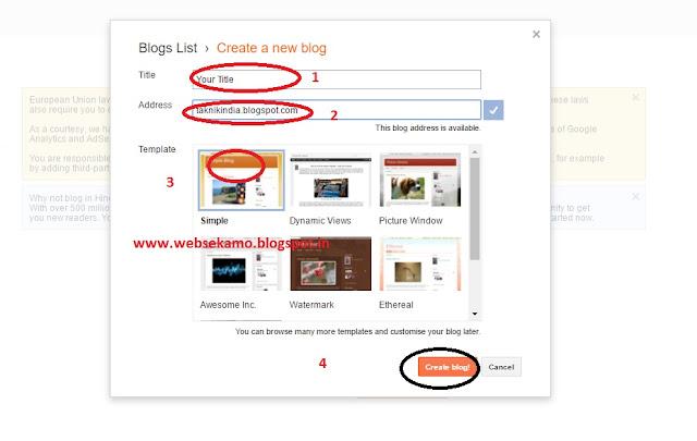 Creation of Blog
