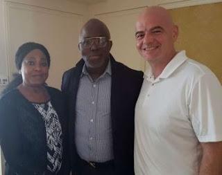 FIFA President Arrives Nigeria