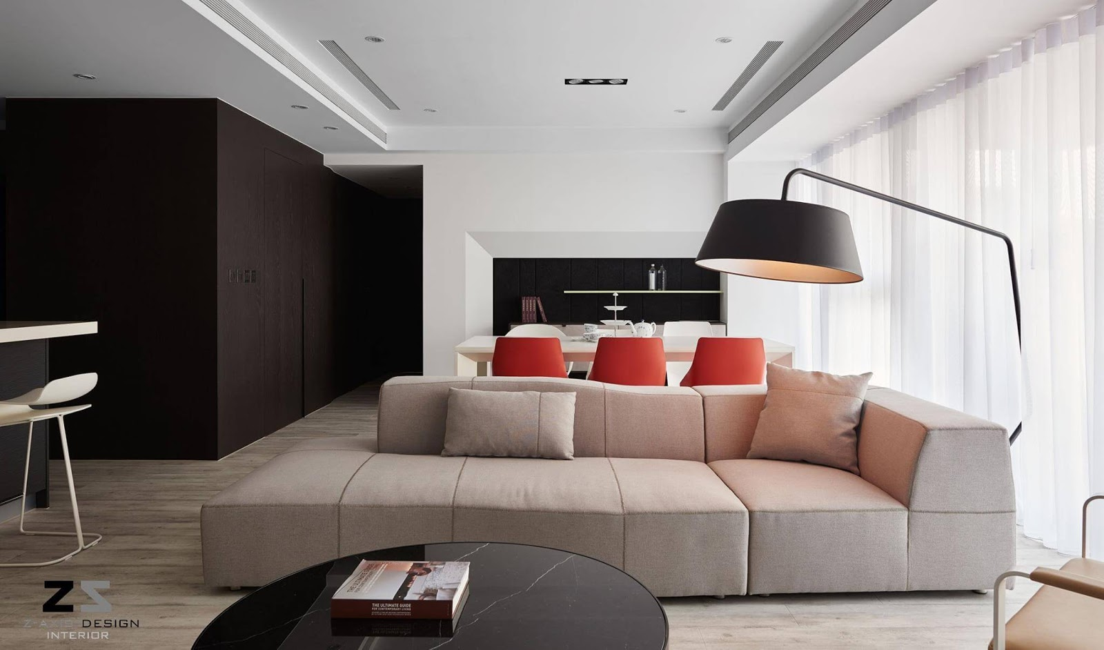 taiwanese apartment with sleek, modern touches in taiwan   ihome ideas