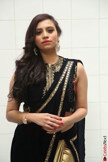 Priyanka Ramana in Beautiful Designer Black Saree At We Craft Elegance Expo Launch 012.JPG