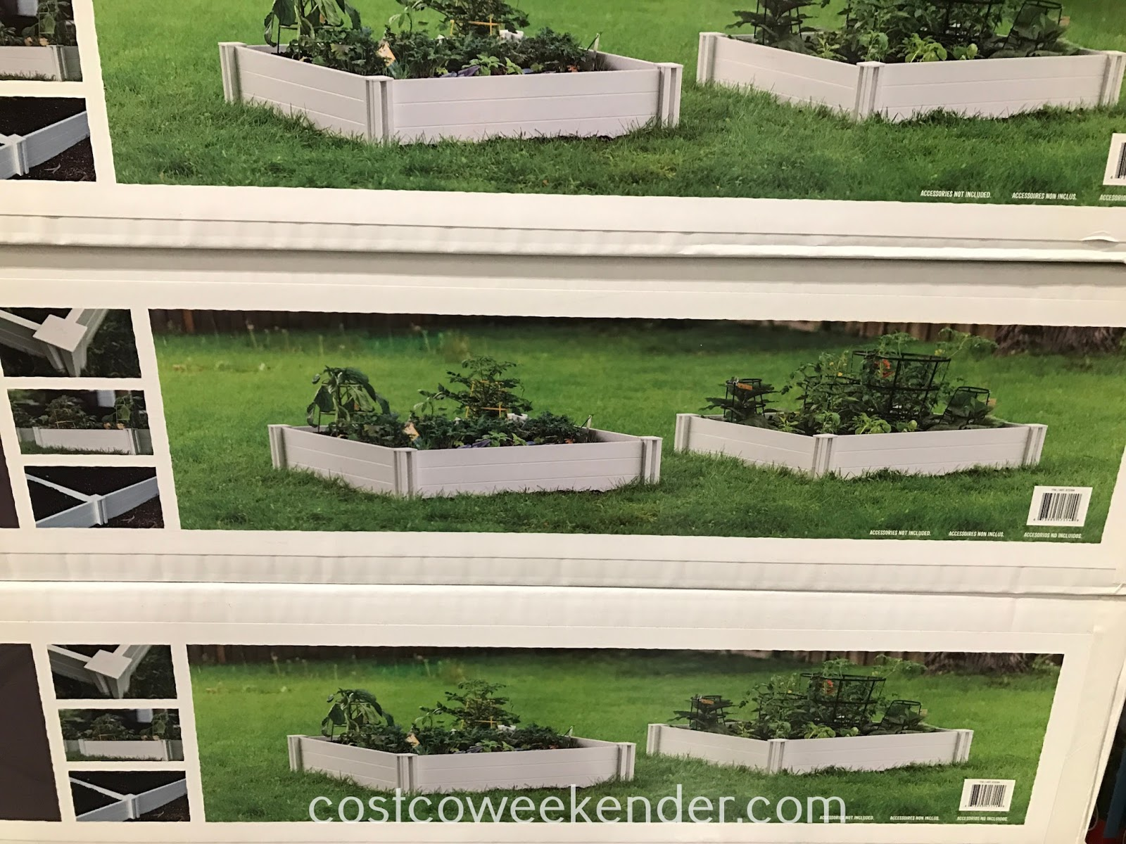 Grow your own vegetables with the Vita White Vinyl Raised Garden Bed