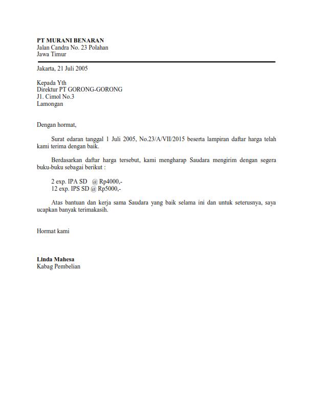 Application Letter Bahasa Inggris Dan Artinya