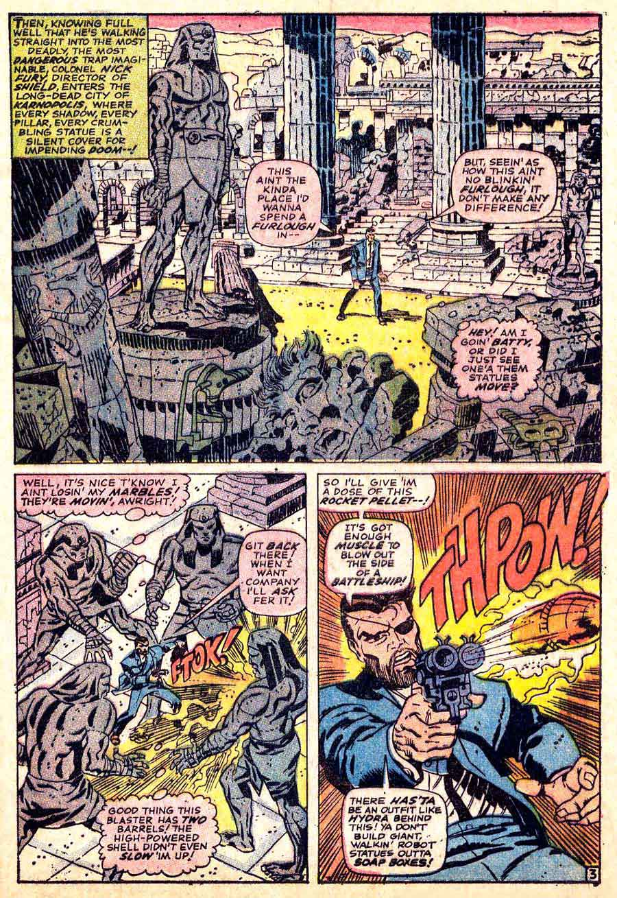 Strange Tales v1 #151 nick fury shield comic book page art by Jim Steranko