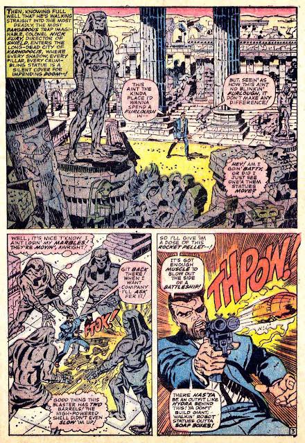 Strange Tales v1 #151 nick fury shield comic book page art by Jim Steranko