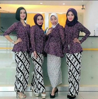 grosir baju batik couple modern