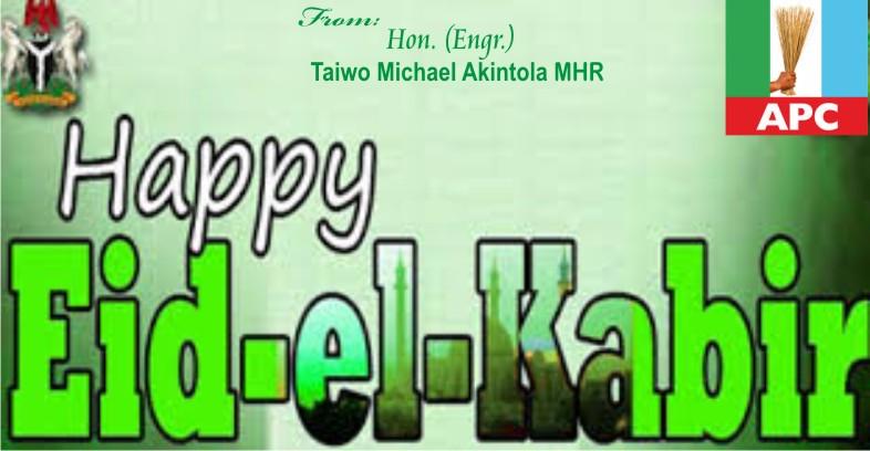Hon engr taiwo michael akintola eid el kabir greetings eid el kabir greetings m4hsunfo