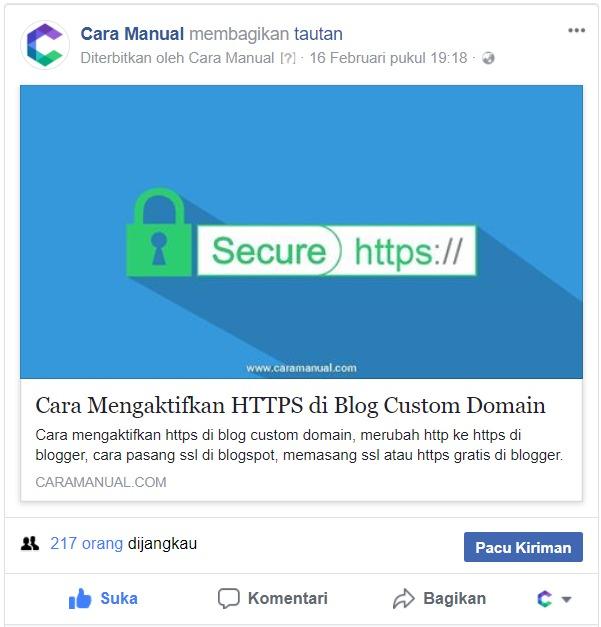 Cara Memasang Meta Tag Facebook Open Graph di Blogger 1