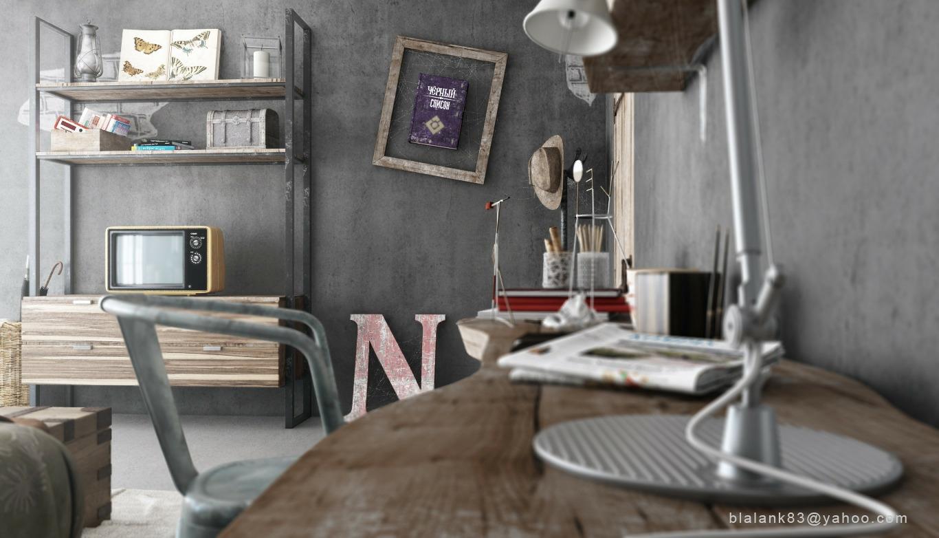 Industrial Bedroom Interior Design Ideas #4
