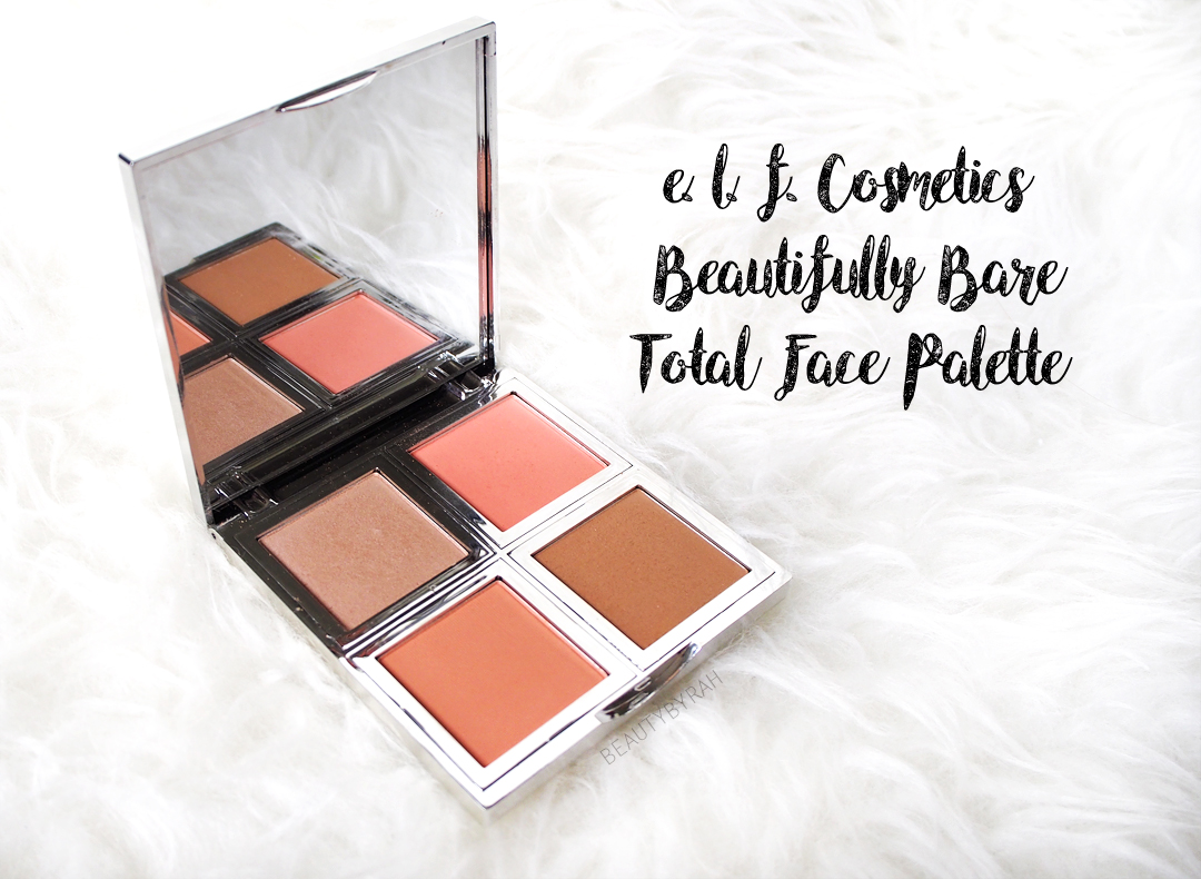ELF cosmetics beautifully bare total face palette review and swatch