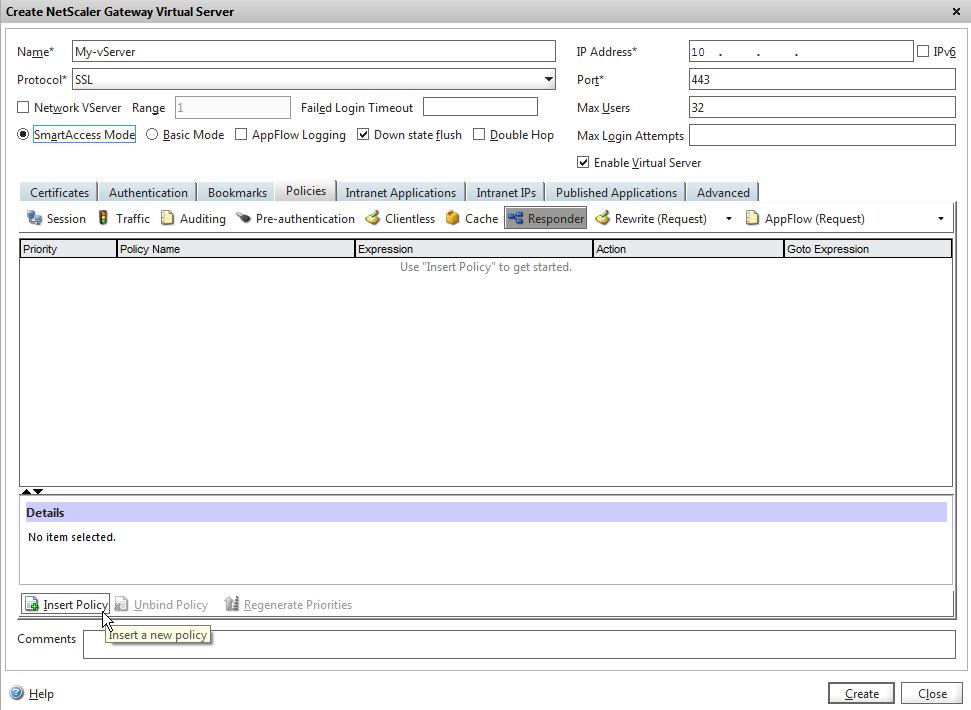 www KeithSmithOnline com: NetScaler - Gateway vServer- Dropping