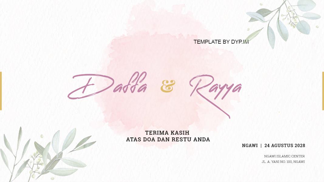 Template Banner Pernikahan Siap Edit 1