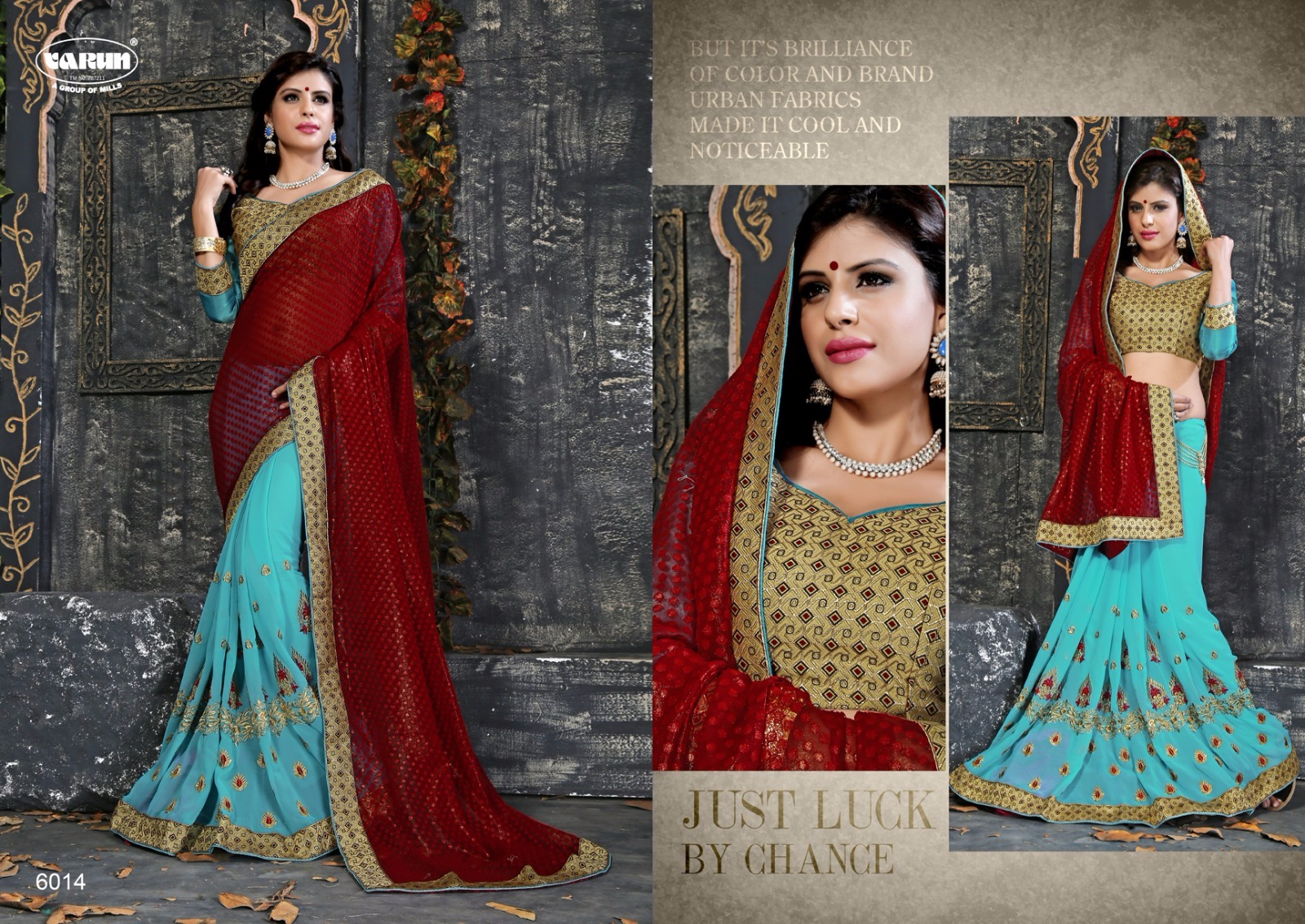 haircut indian plazzo heavy border designer saree with patli work 6014