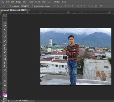 cara memburamkan foto pada photoshop
