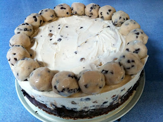 Brownie Cookie Dough Ice Cream Cake