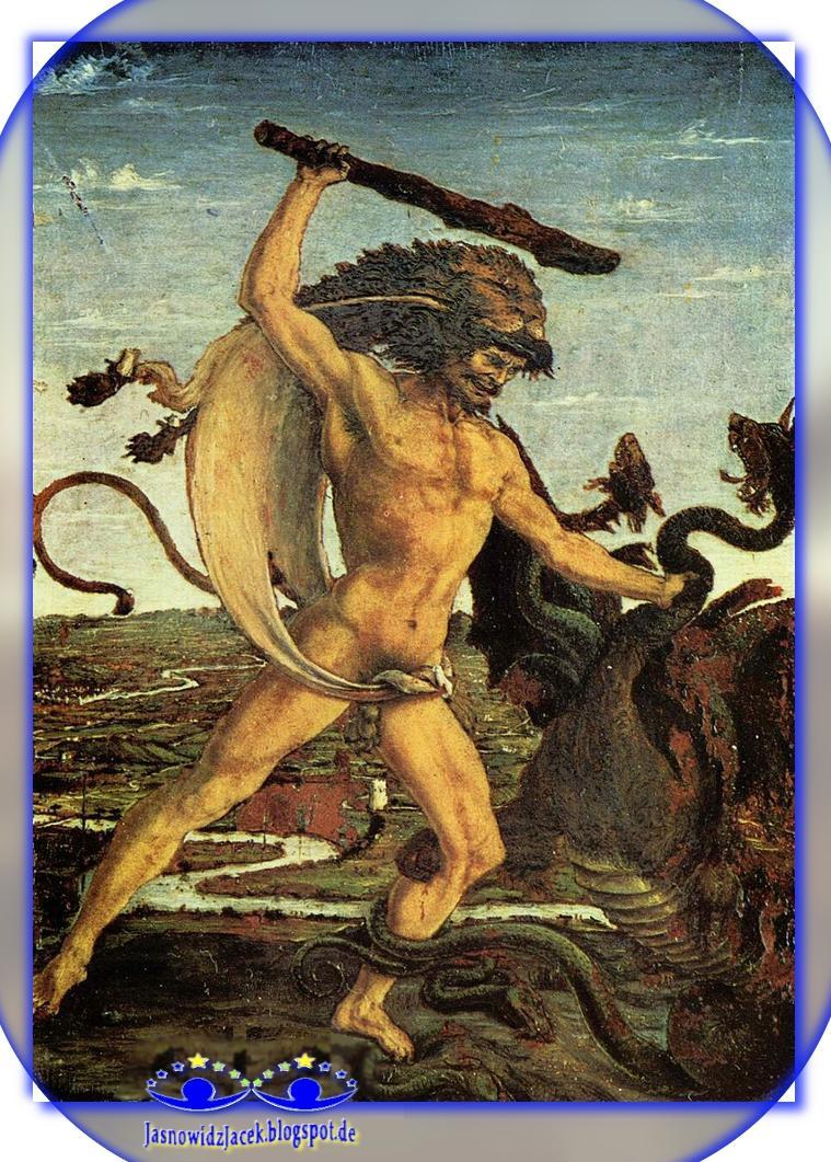 Herakles i Hydra Lernejska Wąż o 9 odrastających głowach - DuchowyUzdrowiciel