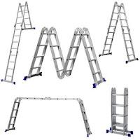Escada Multifuncional 4X4 em Alumínio 16 Degraus - MOR
