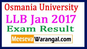 Osmania University LLB Jan 2017 Exam Results