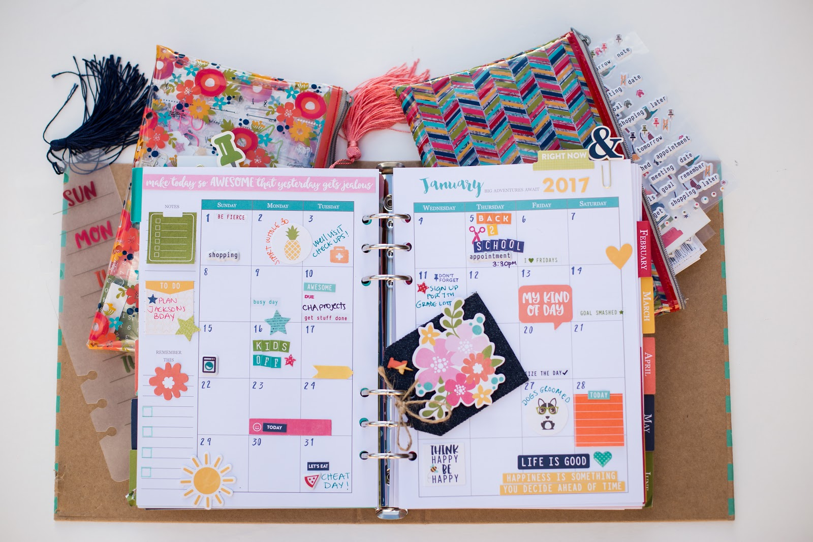 my cluttered corner jillibean soup day 2 day planner january