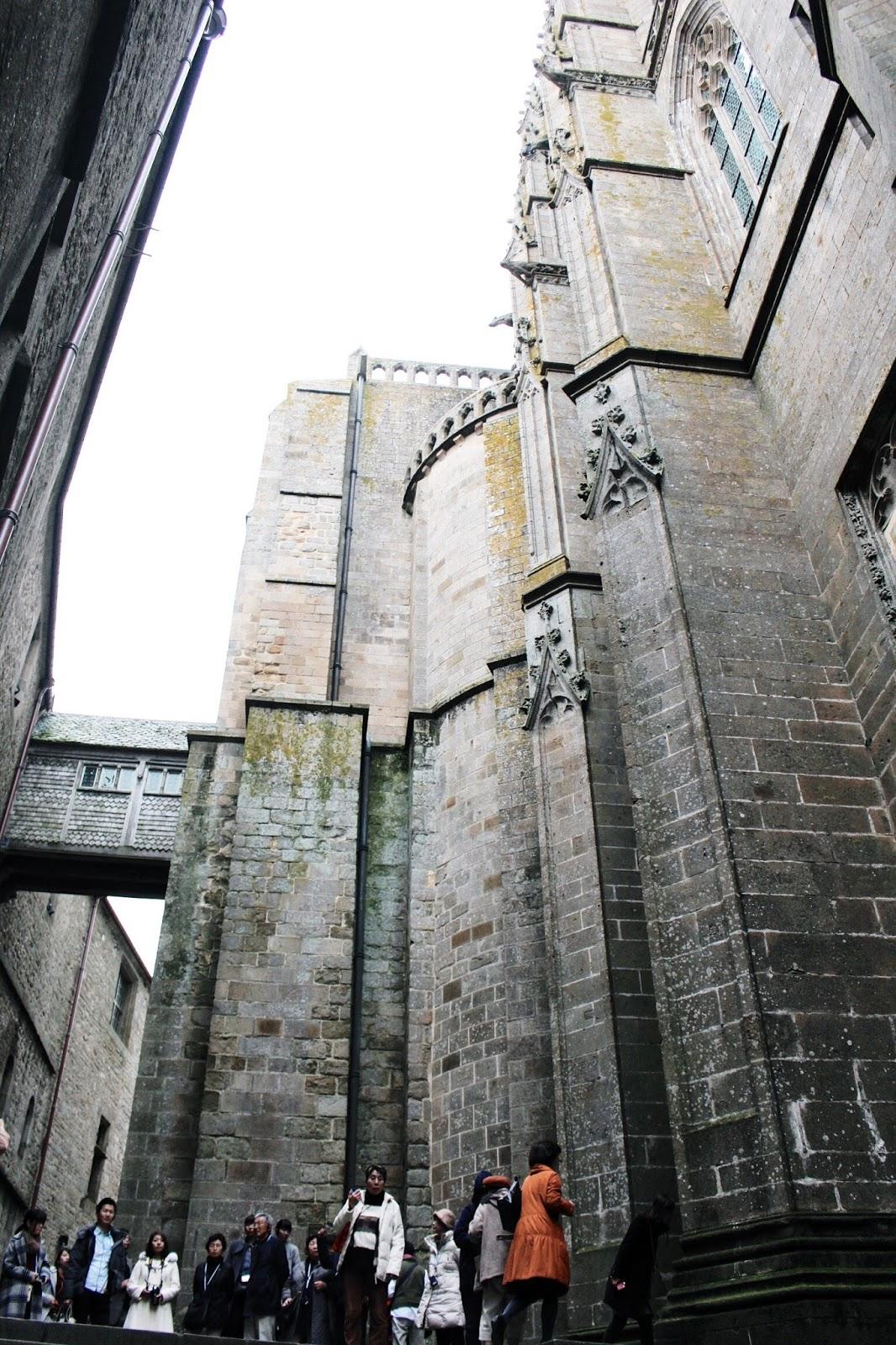 Abbey Architecture at Mont Saint Michel
